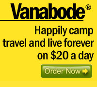 click to order Vanabode how to happily camp travel and live forever on $20 a day
